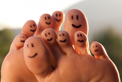 Smiling feet - Having happy and healthy feet at work is a topic our podiatrists are very passionate about, and they have shared some of their top tips for keeping your feet happy all day long!